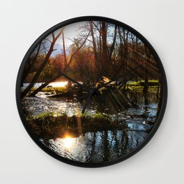 Sunrise River View Wall Clock