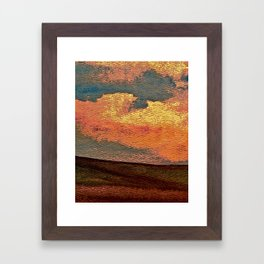 Sunset Over Saskatchewan Foothills Framed Art Print