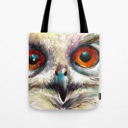 OWL EYE Watercolor Tote Bag