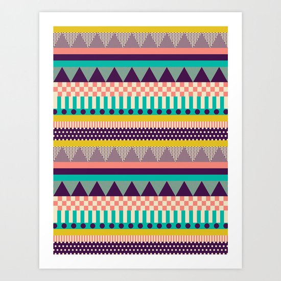 Decorative Stripes Art Print