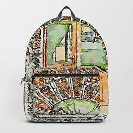 Barbarano Romano: wooden and glass door Backpack
