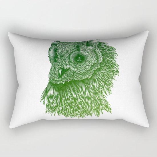 Ombre Owl Rectangular Pillow