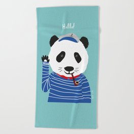 Mr. Panda Seaman Beach Towel