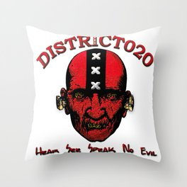 District020 Hear see speak no evil Throw Pillow