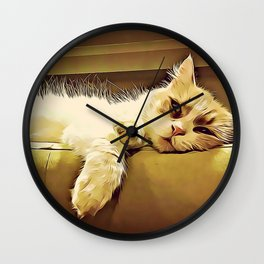Life Is So Exhausting, I think I'll Just Have A Little Nap Wall Clock