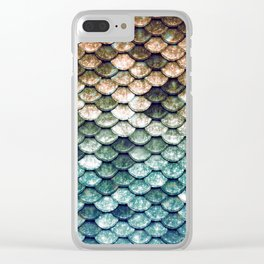 Mermaid Tail Teal Ocean Clear iPhone Case