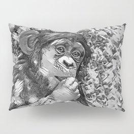 AnimalArtBW_Chimpanzee_20170605_by_JAMColorsSpecial Pillow Sham