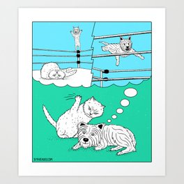 Off The Top Rope Art Print