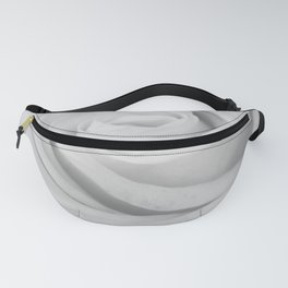 Single white rose close up Fanny Pack