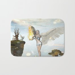 Wonderful fairy  on the rock Bath Mat