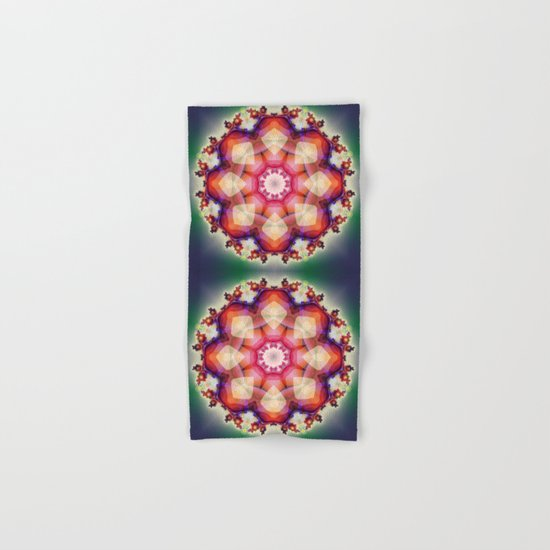 Decorative mandala abstract with translucent colors Hand & Bath Towel