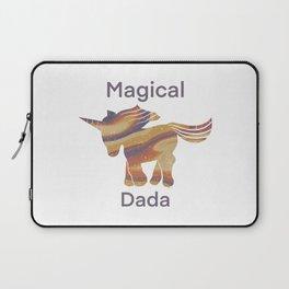 Magical Unicorn Dada - Retro Laptop Sleeve