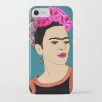 frida kahlo iPhone & iPod Cases featuring Frida Kahlo by Stephanie Jett