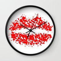 lips Wall Clocks featuring LIPS by ROBAUSCH