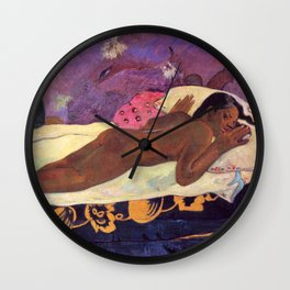 Spirit of The Dead Watching - Gauguin Wall Clock