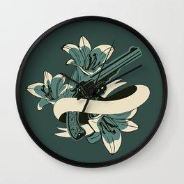 Guns and flowers Wall Clock