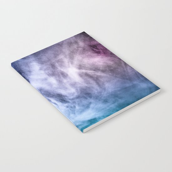 Blue and purple abstract heavenly clouds Notebook