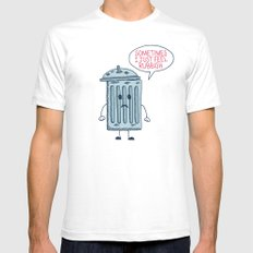 Rubbish Mens Fitted Tee SMALL White