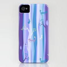 Purple Woodland Stripe iPhone (4, 4s) Slim Case