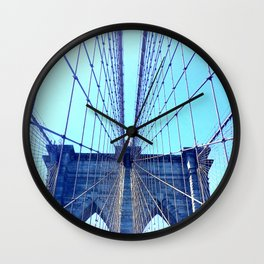 BROOKLYN BRIDGE - LIGHTER Wall Clock