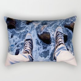 Feet on the cliff Rectangular Pillow