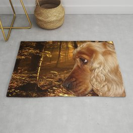 Dog Cocker Spaniel Rug