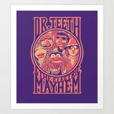 Electric Mayhem Art Print