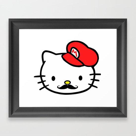 Hello Mario! Framed Art Print