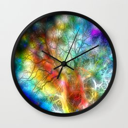 Psychedelic Storm Wall Clock