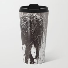 Snow Wolf Metal Travel Mug