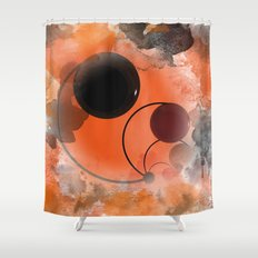 Impressions In Orange An Phonecase Shower Curtains   Society6. Orange And Black Shower Curtain. Home Design Ideas