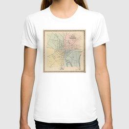Vintage Map of Lancaster PA (1864) T-shirt