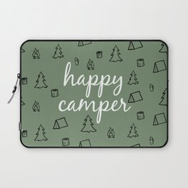 Happy Camper in Fern Green Laptop Sleeve