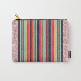 Stripes and pattern in primaries Carry-All Pouch