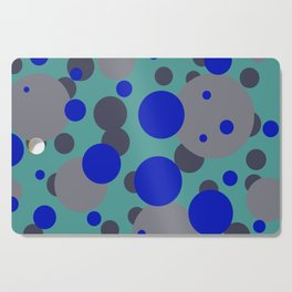 bubbles blue grey turquoise design Cutting Board