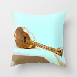 The Golden Guitar Throw Pillow