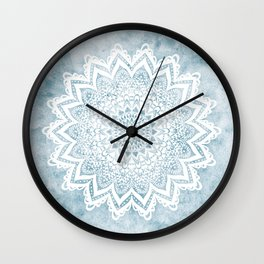 LIGHT BLUE MANDALA SAVANAH Wall Clock