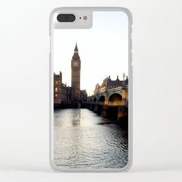 London on the Water Clear iPhone Case