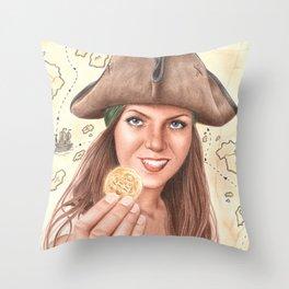 The treasure is finally mine Throw Pillow