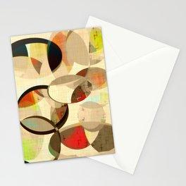 Mod art, circle art, Mid Century Modern Stationery Cards