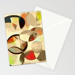 Mod art, circle art, Mid Century Modern Stationery Cards