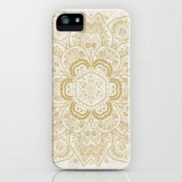 Mandala Temptation in Golden Yellow iPhone Case