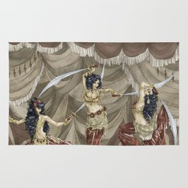 Midnight Circus: Sword Dancers Rug