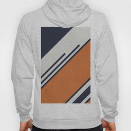 Retro Stripes in Blue Orange Hoody