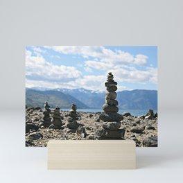 Chelan Rock Stacks Mini Art Print