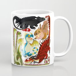 HTTYD- Dragons/Toothless and gang Coffee Mug