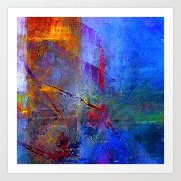 Intensity of Blue Digital Painting Art Print