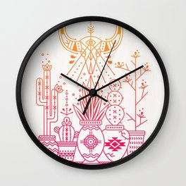 Santa Fe Garden – Pink/Orange Ombré Wall Clock