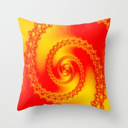 In full brightness downstairs ... Throw Pillow