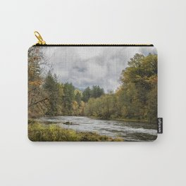 Fall on the McKenzie River Carry-All Pouch
